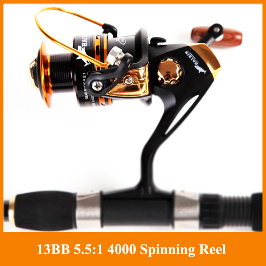 HOT SALE!! 12+1 Bearing Balls Spinning reel fishing reel YA2000-YA5000 5.5:1 spinning reel casting fishing reel lure tackle line(China (Mainland))