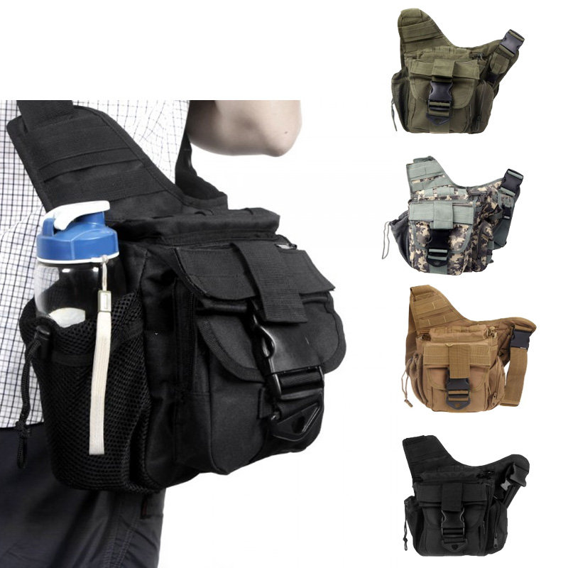 Waterproof Sport Travel Bags Molle Tactical Military Shoulder Strap Bag Pouch Nylon Camera Cross Body Backpack Waist Bag(China (Mainland))