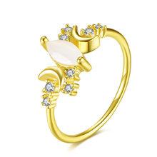 หญิงสีขาวโอปอลดวงจันทร์หินแหวนแฟชั่น 925 (China)