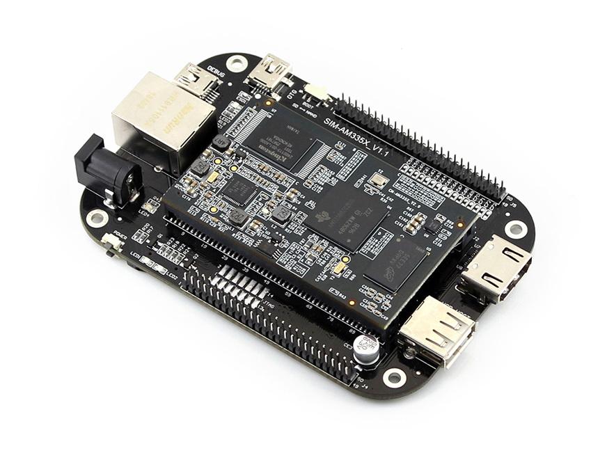 MarsBoard AM335X 512MB DDR3 4GB Nand Flash consists of CM-AM335X and SIM-AM335X AM335X TI Cortex-A8 processor<br>