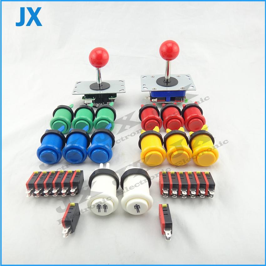 DIY Build Up Arcade Machine Arcade parts Bundles kit With American Joystick Pushbutton Microswitch 1player to jamma(China (Mainland))