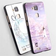 Honor 7/Mate 8 shell Soft TPU 3D Relief Print Back Flip Cover Case Huawei Mate 7/Ascend P8 - A&L center store