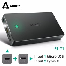 Buy Aukey 20000mah Power Bank External Battery Dual USB QC 2.0 Powerbank Portable Charger iPhone 7 6s xiaomi mi5 Redmi3 Samsung for $23.99 in AliExpress store