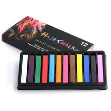 4/ 6/ 12 Hair Color Chalk Dye Soft Pastels Stick Crayons for The Hair Color Easy Temporary Coloured Salon Kit DIY Styling Tools(China (Mainland))