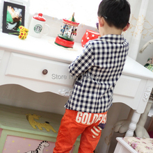 Fashion Kids Baby Boys Plaids Check Dots Casual Suit Jacket Coat Costume 2 7 Years Rose