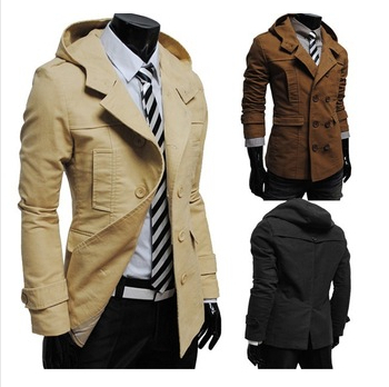 ! 2015 New Spring Autumn Jacket, Fashionable Double Breasted Hooded Mens Casual Coat,Fashion Male Blouse - Xcool World store