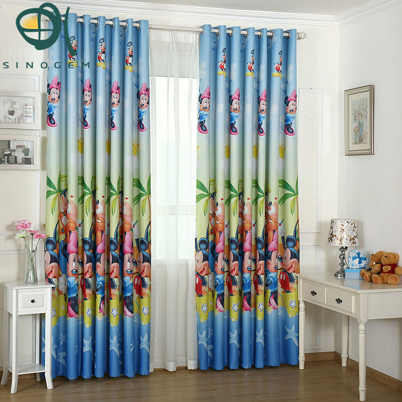 printing curtains lovely mickey mouse boys and girls children bedroom