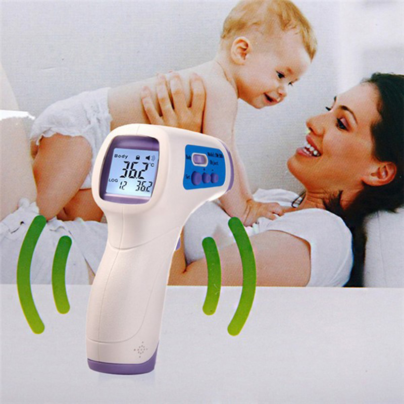 Infrared Thermometer Gun Non-contact Infrared LCD Monitor Measurement Device Digital Infrared IR thermometer DM300 For Baby Kids(China (Mainland))