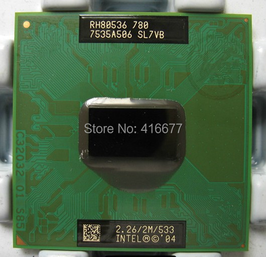 PM780 CPU Original Laptop for Intel Pentium M 780 notebook CPU 2.26 GHz 2MB L2 Cache FSB 533MHz PM 780 mobile CPU Free Shipping(China (Mainland))