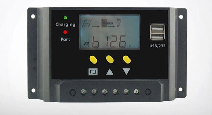 30A Dual USB solar controller