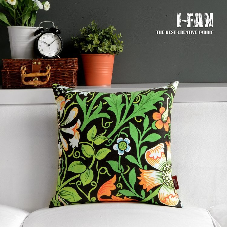 Free Shipping 45cm*45cm Retro Plush Pillow Cover Stained Flowers Pillow Case Simple And Comfortable Vintage Cushion Cover(China (Mainland))