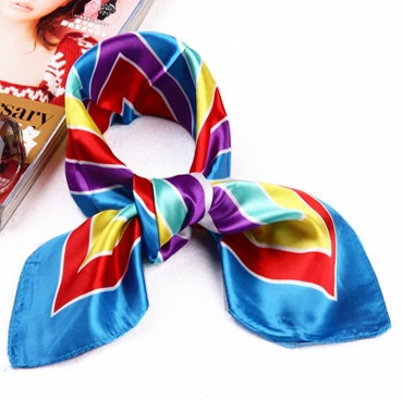 2016 New Arrival Winter Scarf Hot Woman Margic Scarves Satin Small Square Female Airline Stewardess Factory Wholesale Price(China (Mainland))