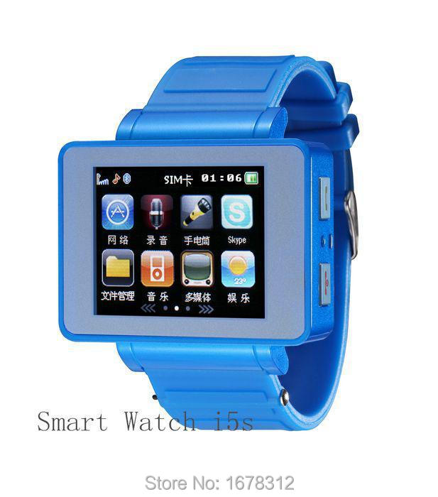 1.8'' Touch Screen GSM Smart Watch Mobile Phone Camera GPRS FM Cell Phone i5s Bluetooth Sync Smart Android Quadband Watch Phone(China (Mainland))