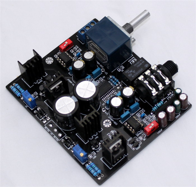 TPA6120A Headphone Amplifier board NE5534 for 32-600 ohm speaker with 27 style Potentiometer
