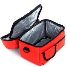 Square Thermal Bag Women Men Lunch Bag Cooler Beam Port Lunch Box Lady Handbag Children Kids
