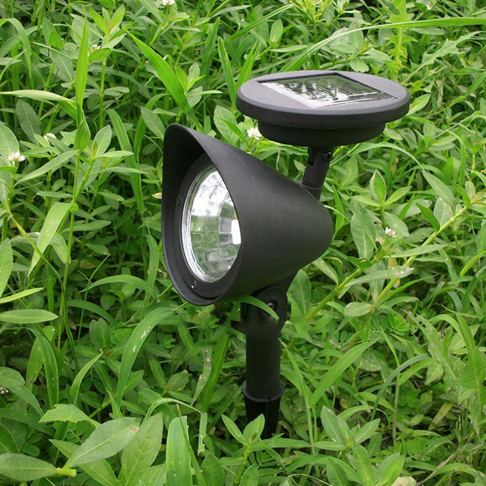 3 LED Solar Powered Spotlight Outdoor Garden Landscape Lawn Yard Path Spot decor Light Lamp Auto On Hot Worldwide(China (Mainland))