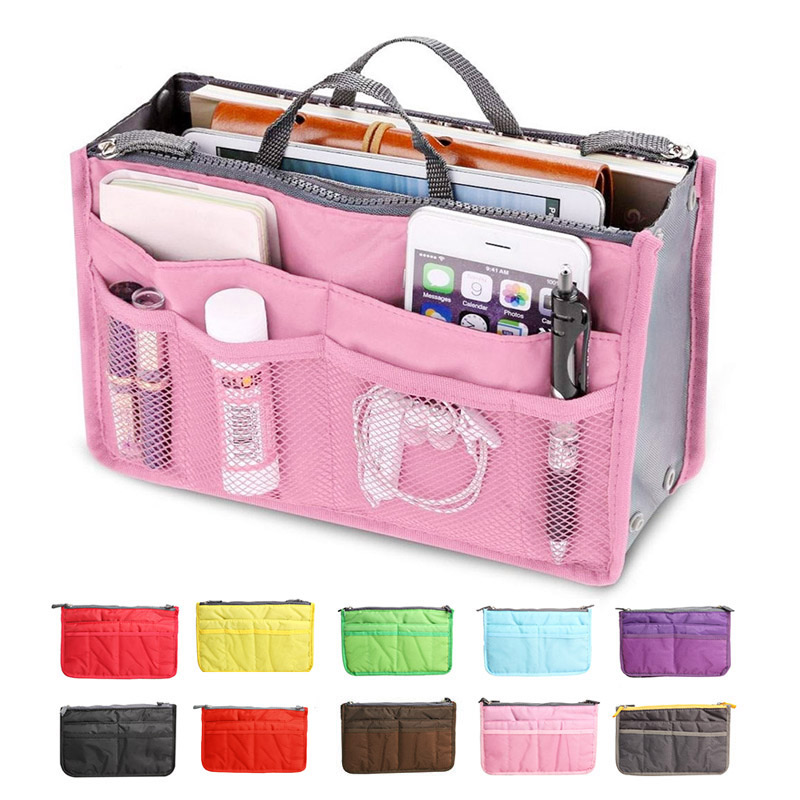 Portable Women Nylon Cosmetic Makeup Bags Organizer Storage Bag Pouch Holder Sale J2Y(China (Mainland))