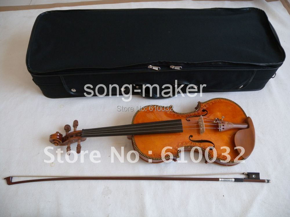 4/4 Old Violin Aged Maple Russian SPruce Pro 00124 7#(China (Mainland))