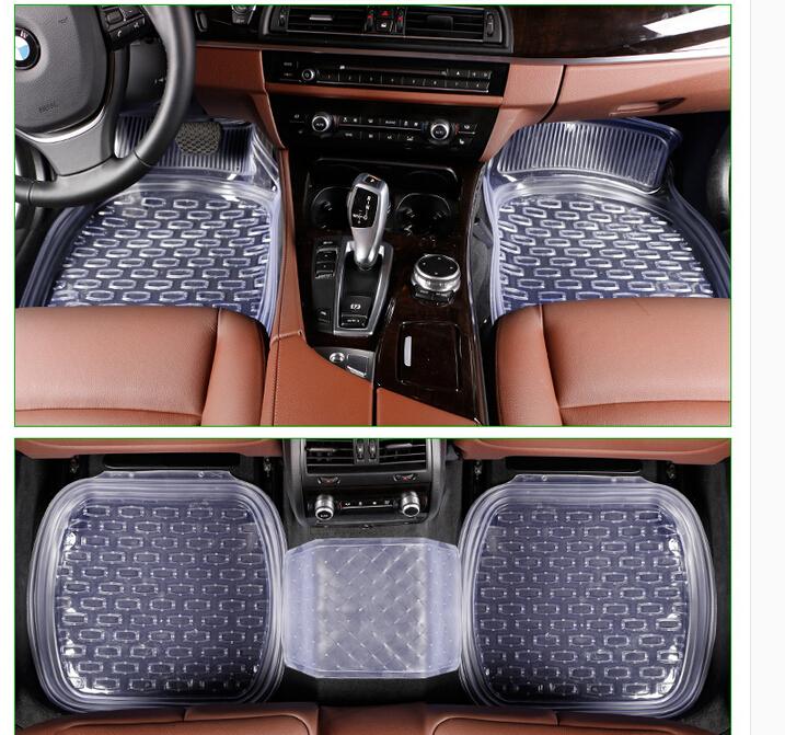 universal 64*47cm car floor mats car mats car carpet 5pcs/set 2.2kg Transparent free shipping<br><br>Aliexpress