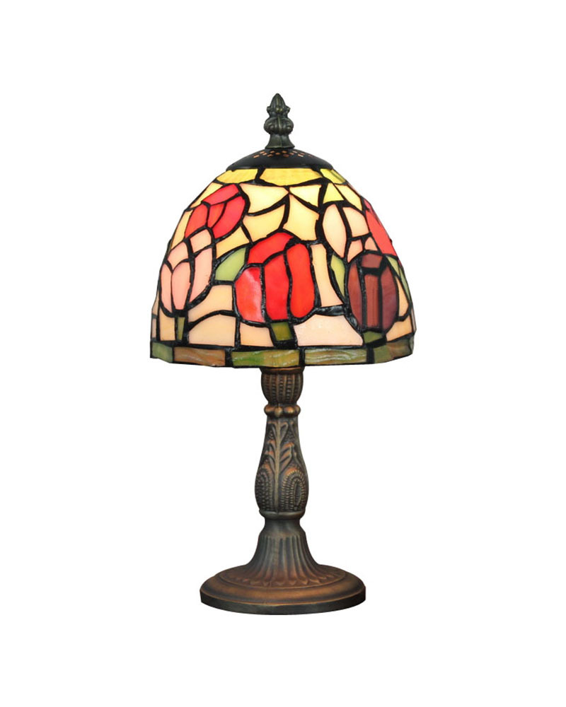 Ems Free Tiffany Accent Table Lamp Of The Stained Leaded Glass Lamp For Bedroom Lighting No
