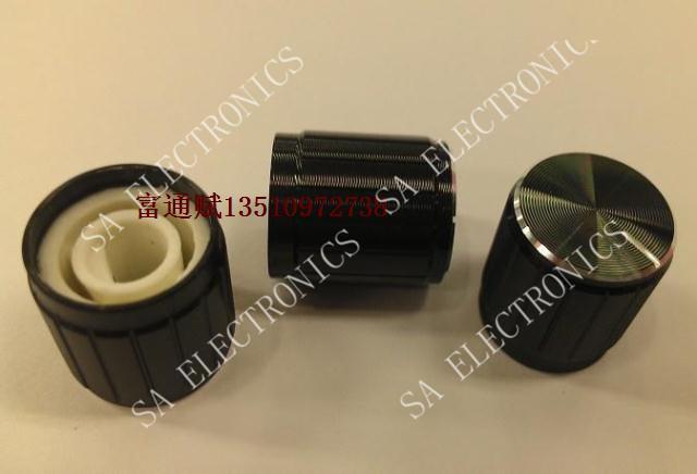 Здесь можно купить  [BELLA]Shelf workmanship black aluminum knob 15 * 16mmh bright side ( half shaft hole )--100PCS/LOT  Электронные компоненты и материалы