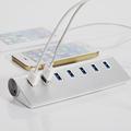 7 Ports Aluminum USB 3 0 Hub Portable Hub for Apple Macbook Pro Mac PC Laptop