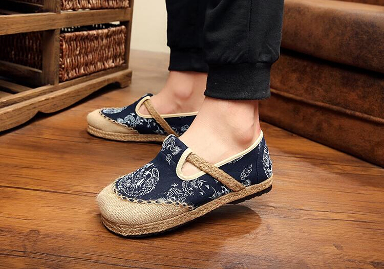 Здесь продается  Chinese folk style Pure linen cloth manual linen Beijing cloth shoes retro lovers canvas shoes art  Thailand shoes zapatos mujer  Обувь