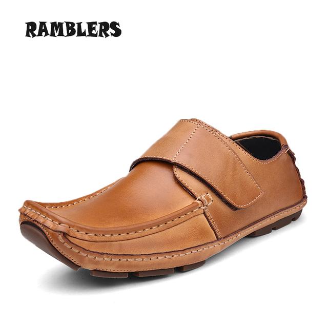 Размер 11 осень натуральной кожи мужская обувь свободного покроя мокасин ручной мягкие ...