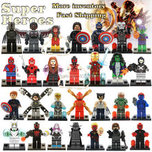 Marvel Super Heroes The Avengers Minifigures DC Batman VS Superman Building Blocks Toys For Kids Figure compatible with lego(China (Mainland))
