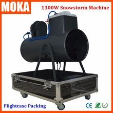 Flightcase packing Bracket Wheels+1300W snow machine big snow maker Snowflake Foam Machine snow cover 150m2 Christmas Projector(China (Mainland))