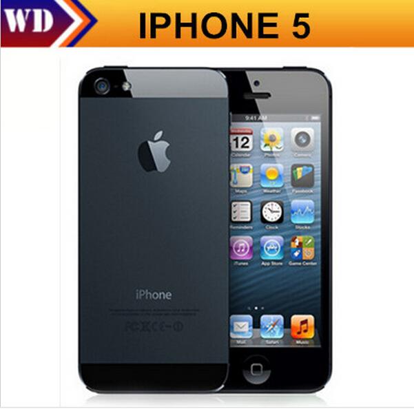 Factory unlocked APPLE iPhone 5 Original Cell Phone iOS 9 OS Dual core 1G RAM 16GB 32GB 64GB ROM 4.0 inch 8MP Camera WIFI 3G GPS(China (Mainland))