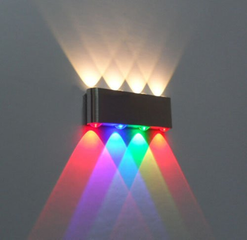 new! 8W Led Wall Sconce lamp Lights for hotel Aisle step Hall Bedside up down indoor Decorative Lighting,led Multi-colored light(China (Mainland))