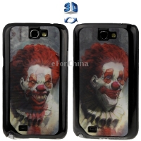 Brand New 3D Effects Style Clown Pattern Plastic Protector Case for Samsung Galaxy Note2 II N7100(China (Mainland))