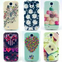 For Samsung Galaxy S4 Case Silicone Clear Soft Cartoon Dog Patterns Phone Case For Samsung Galaxy S4 i9500 Case Flower Colorful
