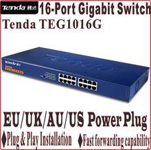 Network Switches Plug&Play Gigabit Speed Tenda TEG1016G 10/100/1000Mbps 16-Ports Gigabit switch 32G switch capacity(China (Mainland))