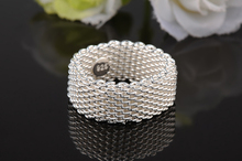 GSSPR023 Silver Plated Valentine's day gift Summer wave high quality web Ring fashion wedding  jewelry