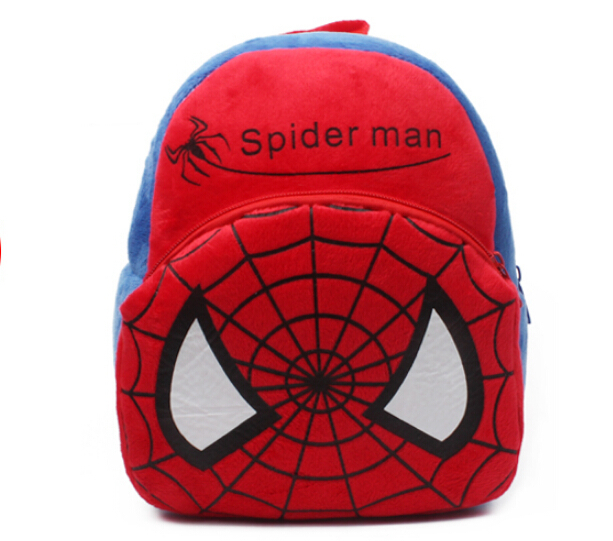 2015 Hot movie spiderman school bags baby lovely movie star bags for school children Superman backpack retail(China (Mainland))