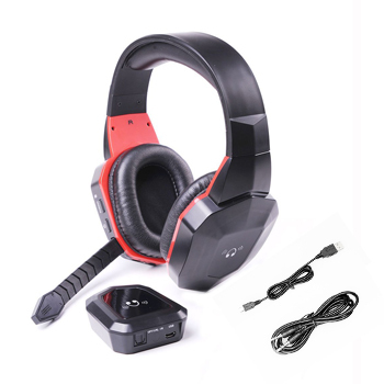 Brands 2.4G Wireless Digital fiber Stereo Gaming headphones for PS4,PS3,Xbox 360 ONE,Wii,PC/MAC,TV Games Headset Removeable Mic(China (Mainland))