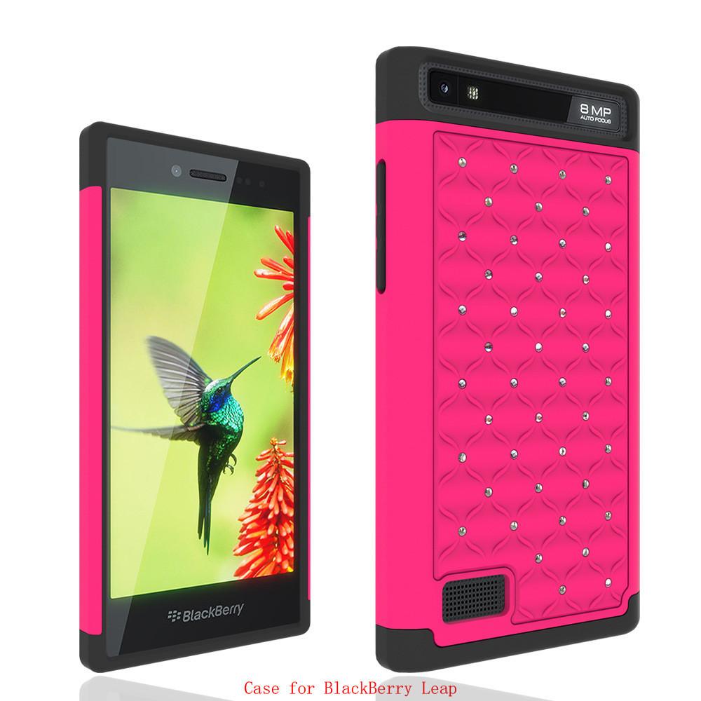 100pc Z20 Armor Capa For Blackberry Leap Case Shockproof Bling Diamond Armor Cover For Blackberry Leap Z20 Phone Case(China (Mainland))