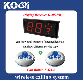 Waiter calling system of call for restaurant A set of 1pcs LED receiver and 5pcs call buttons DHL free shipping free