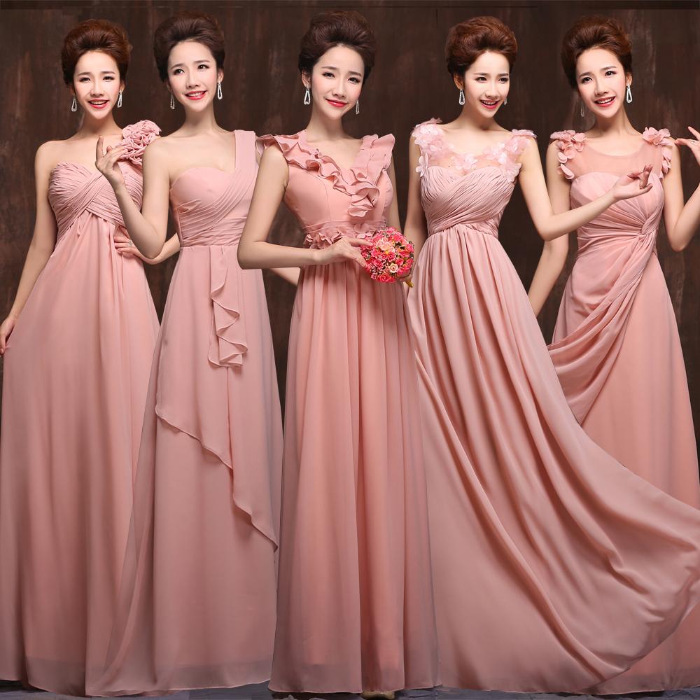 Vestidos del vestido de boda de la novia de dama de honor — Cuadros