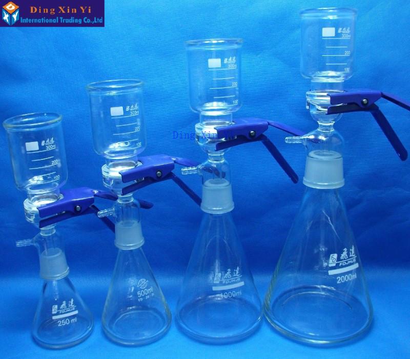 1000ml Vacuum filtration apparatus,membrane filter,Sand-Core Filter  Equipment