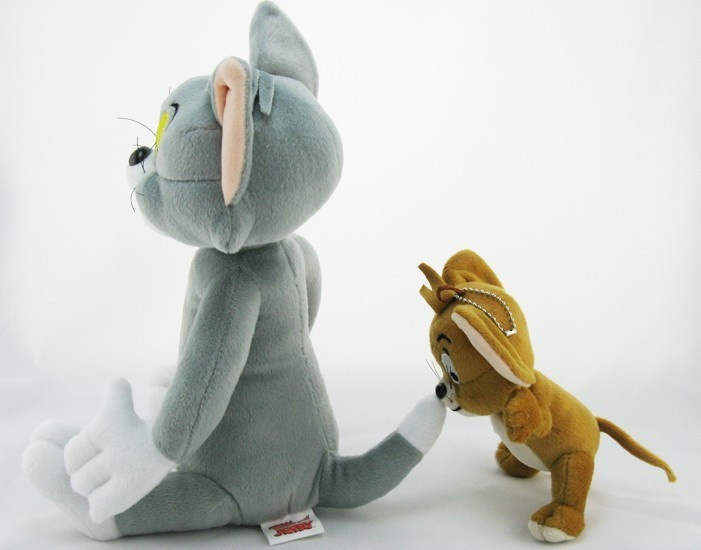 2pcs-lot-Baby-Toys-Cat-Tom-And-Jerry-Mouse-Plush-Stuffed-Toys-soft-Dolls-Boneca-Pelucia (4)