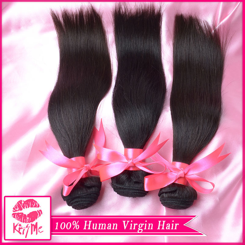 6A Brazilian Virgin Hair 3 Bundles Straight Human Hair Virgin Brazilian Straight Hair Unprocessed Brazilian Virgin Hair Straight(China (Mainland))