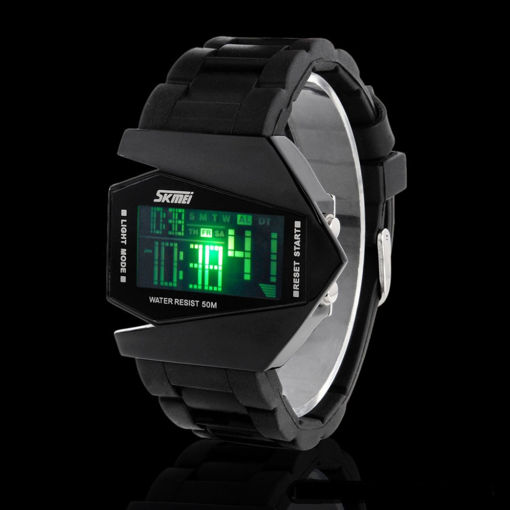 Silicone Fashion Trend Stealth Aircraft Multifunction Electronic Watches Jelly Table SKW-205(China (Mainland))