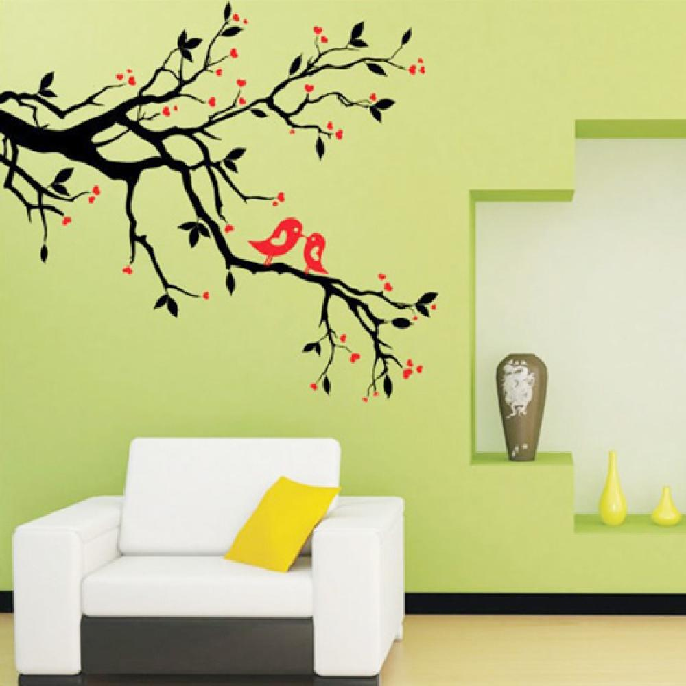 Tree Branch Birds DIY Wall Sticker Adesivo De Parede Wall Stickers Decal Mural Home decoration(China (Mainland))