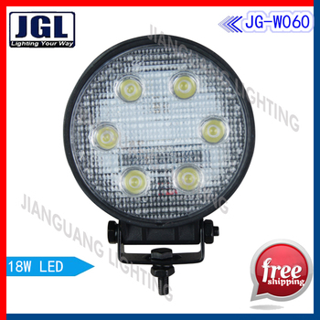Hot selling product  Truck LED Utility Light  4in 9-30 Volt 18 Watt Work Light For boat heavy duty machine Free Shipping