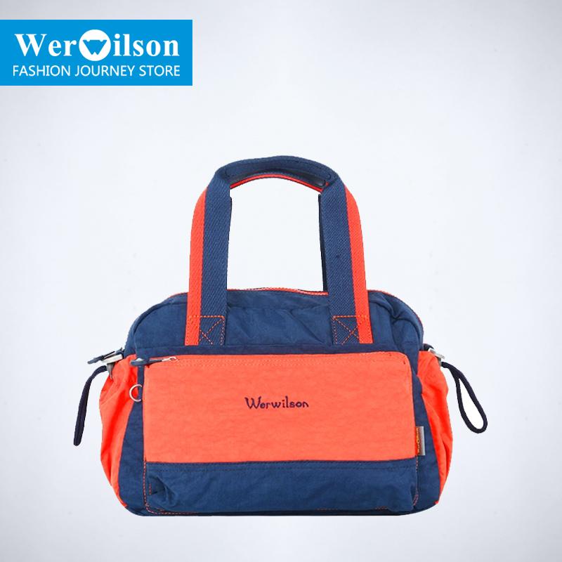 Wilson handbag the trend of female fashion color block shoulder casual bag 22137 - 2(China (Mainland))
