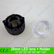 Buy 20MM Black color Bead surface LED lens holder 5 15 25 30 45 60 90 120 degree led lens bracket holder LED lamps for $24.61 in AliExpress store