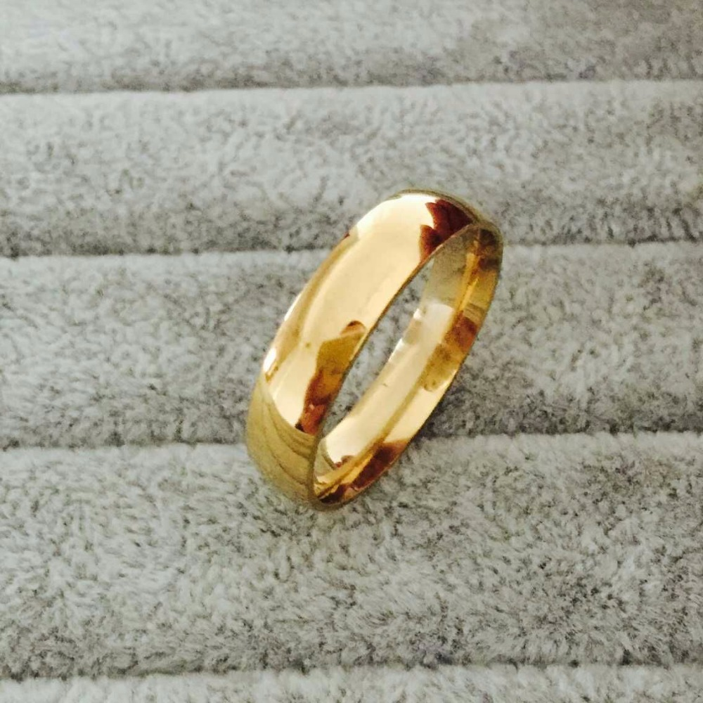 Classic tungsten carbide ring 6mm gold wedding lovers rings for men women high quality USA size 6-14(Hong Kong)